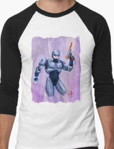 ROBcop Men's Baseball ¾ T-Shirt