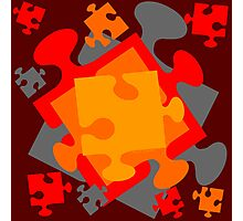 Jigsaw Jumble Photographic Print