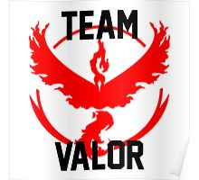 Team Valor - Pokemon Go [White] Poster