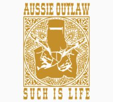 Ned Kelly Aussie Outlaw in Yellow by UncleHenry