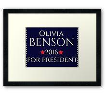 Olivia Benson For President  Framed Print