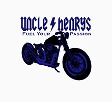 Bobber Motorcycle 'Fuel your Passion' in blue Unisex T-Shirt