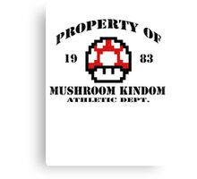 Property of Mushroom Kingdom red Canvas Print