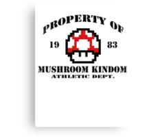 Property of Mushroom Kingdom red Canvas Print