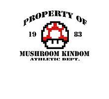 Property of Mushroom Kingdom red Photographic Print