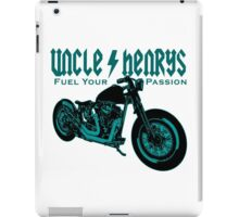 Bobber Motorcycle 'Fuel your Passion' in teal iPad Case/Skin