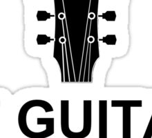 Got Guitar Black Sticker