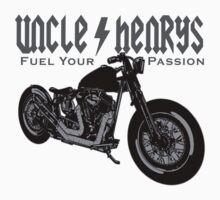 Bobber Motorcycle 'Fuel your Passion' in grey by UncleHenry