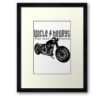 Bobber Motorcycle 'Fuel your Passion' in grey Framed Print