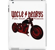 Bobber Motorcycle 'Fuel your Passion' in red iPad Case/Skin