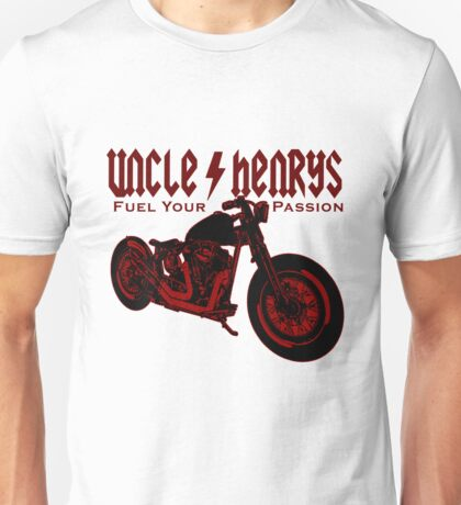 Bobber Motorcycle 'Fuel your Passion' in red Unisex T-Shirt