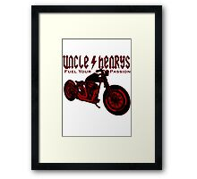 Bobber Motorcycle 'Fuel your Passion' in red Framed Print