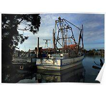 Old Fishing Boat at Yamba Poster