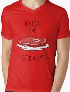 Raise the Steaks! Mens V-Neck T-Shirt