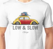 VW Beetle Low & Slow (yellow) Unisex T-Shirt