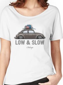 VW Beetle Low & Slow (brown) Women's Relaxed Fit T-Shirt