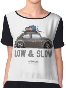 VW Beetle Low & Slow (brown) Chiffon Top