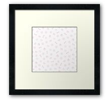 Cute pastel pattern. Seamless pretty pink background.  Framed Print