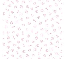 Cute pastel pattern. Seamless pretty pink background.  Photographic Print
