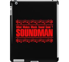 Good Soundman Red iPad Case/Skin