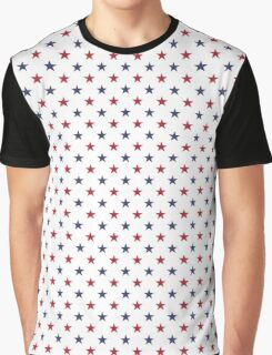 USA Flag Red and Flag Blue Stars Graphic T-Shirt