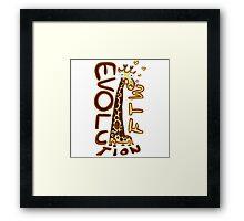 Giraffa camelopardalis Framed Print