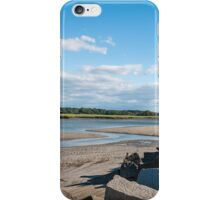 Long Warf Boat Launch at Lowtide Gloucester, MA iPhone Case/Skin