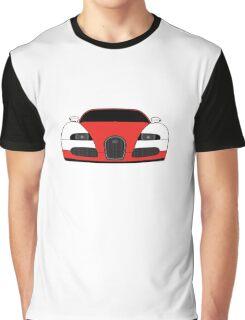 Bugatti Veyron Red Graphic T-Shirt