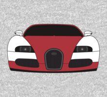 Bugatti Veyron Red One Piece - Short Sleeve