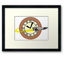 Doc Brown Institute of Time Travel Framed Print