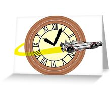 Doc Brown Institute of Time Travel Greeting Card