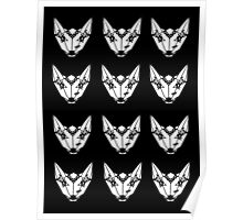 wolf pattern Poster