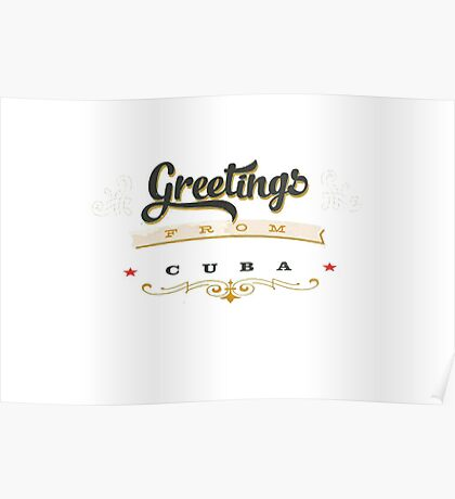 greetings from cuba Poster
