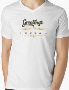 greetings from cuba Mens V-Neck T-Shirt