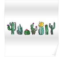 Watercolor Cactuses Poster