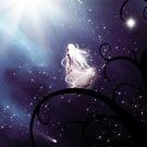 Windblown Starfall In Purple by Stephanie Rachel Seely