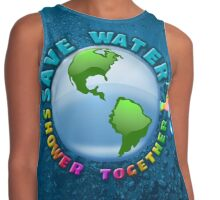 save water, shower together Contrast Tank