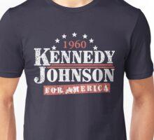 Vintage Kennedy Johnson 1960 Presidential Campaign Unisex T-Shirt
