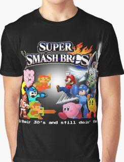 Nintendo Super Smash Bros. NES vs. Wii U/3DS 'Never Old'  Graphic T-Shirt