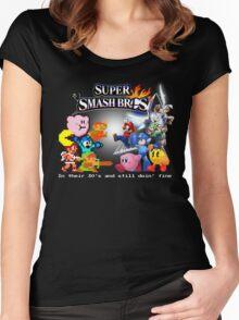 Nintendo Super Smash Bros. NES vs. Wii U/3DS 'Never Old'  Women's Fitted Scoop T-Shirt