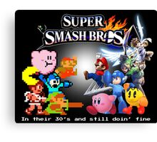 Nintendo Super Smash Bros. NES vs. Wii U/3DS 'Never Old'  Canvas Print