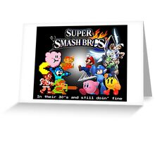 Nintendo Super Smash Bros. NES vs. Wii U/3DS 'Never Old'  Greeting Card