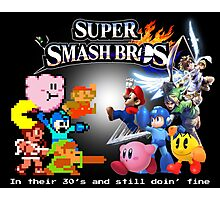 Nintendo Super Smash Bros. NES vs. Wii U/3DS 'Never Old'  Photographic Print