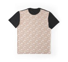 Adobe Clay and White Snowflake Flurries Graphic T-Shirt
