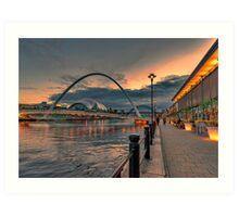 Newcastle Quayside Art Print