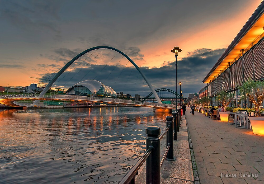Newcastle Quayside by Trevor Kersley