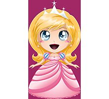 Blond Princess In Pink Dress Photographic Print