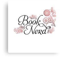 Book Nerd Flower Graphic Canvas Print