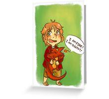 Hobbit: I Am Fire! I Am Death! Greeting Card