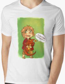 Hobbit: I Am Fire! I Am Death! Mens V-Neck T-Shirt